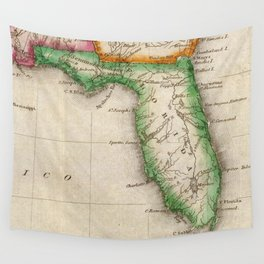 Vintage Map of Florida (1822) Wall Tapestry