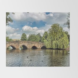 5 Arches of Bakewell Bridge Throw Blanket