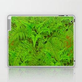 ABSTRACTED  GREEN  TROPICAL FERNS GARDEN ART Laptop & iPad Skin