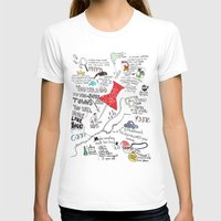 john green T-shirts featuring Paper towns, John Green by Natasha Ramon