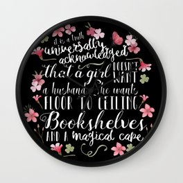 Truth Universally Acknowledged Wall Clock