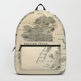 Vintage and Retro Geological Map British Isles Backpack