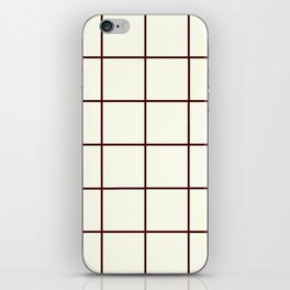 Chocolate and Cream, Ummy Window Panes iPhone Skin