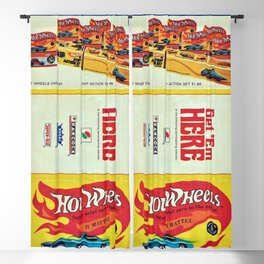 1969 Hot Wheels Redline Toy Cars Shell Gas Station Promotional Poster Blackout Curtain