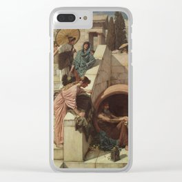 Diogenes by John William Waterhouse Clear iPhone Case