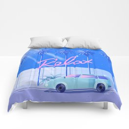 Relax (Blue) Comforters