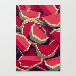 Too many watermelons Canvas Print