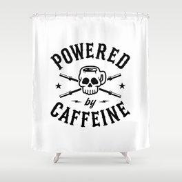 Powered By Caffeine Shower Curtain