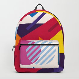Abstract modern geometric background. Composition 18 Backpack