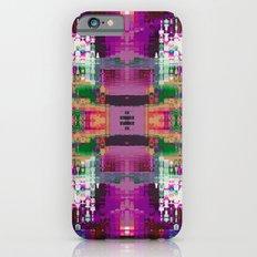 Purple digital patchwork iPhone 6s Slim Case