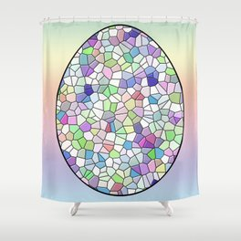 Mosaic Egg Shower Curtain
