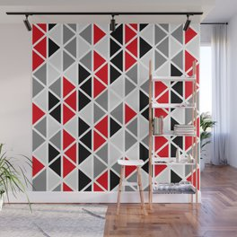 Triangular Vitrail Mosaic Pattern V.02 Wall Mural