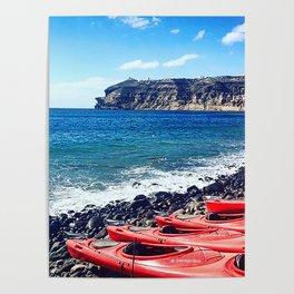 Greek Kayaks Poster