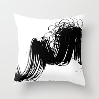 sketch Throw Pillows featuring sketch by gloriuos days