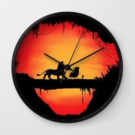 Lion king sunset Wall Clock