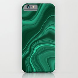 Liquid Malachite Dream #1 #gem #decor #art #society6 iPhone Case
