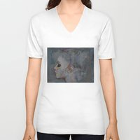 ballerina V-neck T-shirts featuring Ballerina by Michael Creese