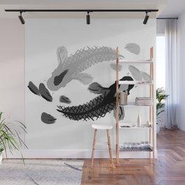 Yin-Yang oriental Koi fish Wall Mural