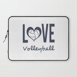 Love Heart Volleyball (blue) Laptop Sleeve