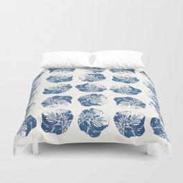 Minimal Patterns - Mexican Primrose Blue Duvet Cover