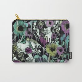 Mrs. Sandman, melting rose skull pattern Carry-All Pouch