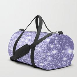 Galaxy Sparkle Dark Lavender Duffle Bag