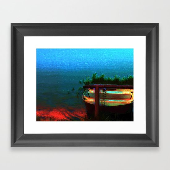 Rusty Boat Framed Art Print