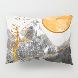 Marble mountains and the fire tree Pillow Sham