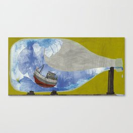 tossed to sea // jonah & the whale Canvas Print