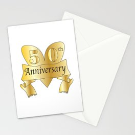 50th Anniversary Heart Stationery Cards