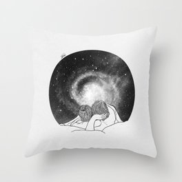 Our imaginary night. Throw Pillow