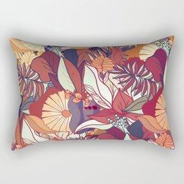 love of autumn - floral pattern Rectangular Pillow