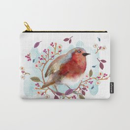 Robin - Bird Watercolor Carry-All Pouch
