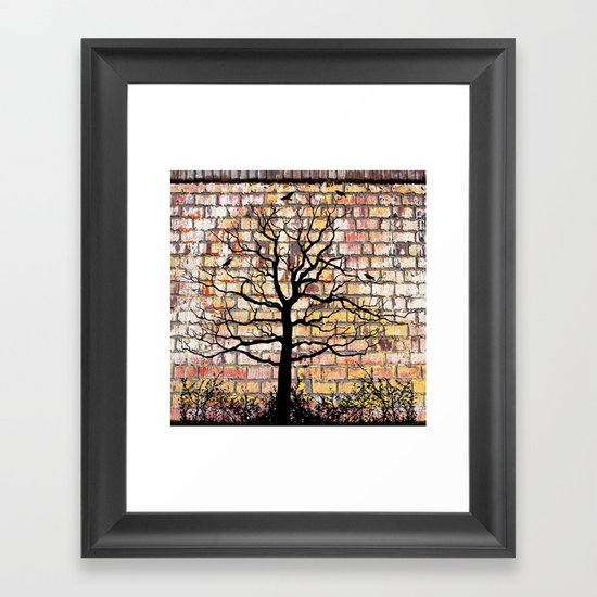 Graffiti Tree Framed Art Print