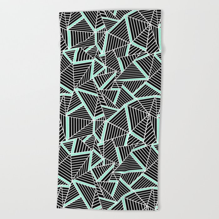 Ab 2 Repeat Mint Beach Towel