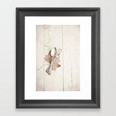 Cubiertos y hoja. Framed Art Print