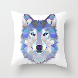 Colorful Wolf Throw Pillow