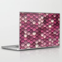 bisexual Laptop & iPad Skins featuring Pink sparkling scales by UtArt
