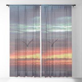 Black Gull by nite Sheer Curtain