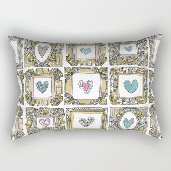 love heart frames Rectangular Pillow