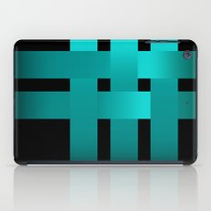 Abstraction .Weave turquoise satin ribbons . Patchwork . iPad Case