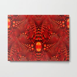 Red Copper Gems - Seamless Metal Print