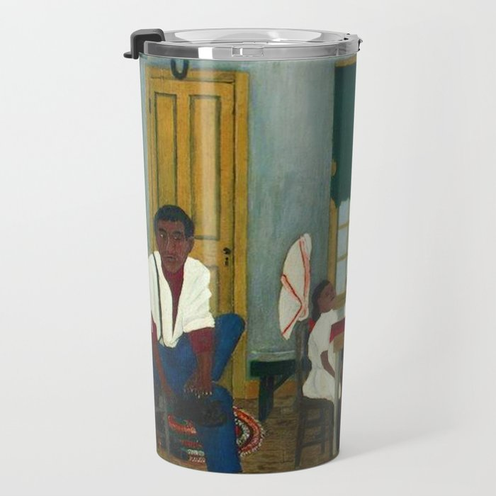 African American Masterpiece 'Saturday Morning Breakfast' by Horace Pippin Travel Mug