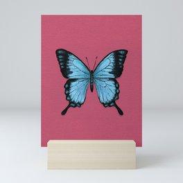 Blue Swallowtail Butterfly Painting Mini Art Print