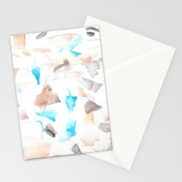180515 Abstract Wp 3| Watercolor Brush Strokes Stationery Cards