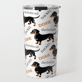 Black Tan Smooth Dachshund Travel Mug
