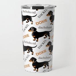 Black Tan Smooth Dachshund Travel Mug