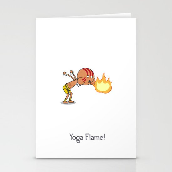 Yoga Flame! Stationery Cards