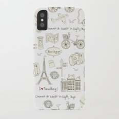I {❤} Travel iPhone X Slim Case