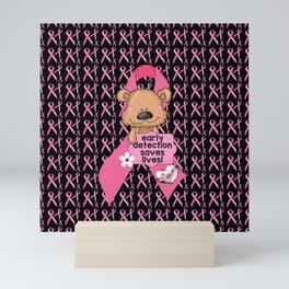 Early Detection Saves Lives Breast Cancer Mini Art Print